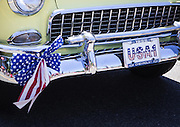"A 1955 Chevrolet rolls by with ""USA-1"" in the license plate holder during the annual Freedom Festival in Bothell on  July 4.<br />