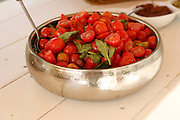 Fresh cherry tomato salad in a bowl