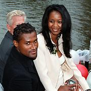 Huwelijk Patrick Kluivert en Angela van Hulten Amsterdam, Winston Bogarde en vriendin Lydia