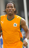 Photo: Steve Bond/Richard Lane Photography.<br />Nigeria v Ivory Coast. Africa Cup of Nations. 21/01/2008. Didier Drogba warms up
