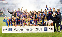 Fotball, 9. november 2008, NM finale , Cupfinale Cup-finale Vålerenga - Stabæk<br /> <br /> Vålerenga vant cupfinalen 2008 4-1<br /> Norgesmester