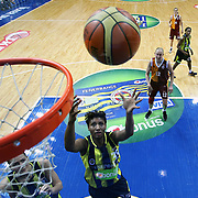 Fenerbahce's Angel MCoughtry (C) during their Turkish Basketball woman league derby match Fenerbahce between Galatasaray at Ulker Sports Arena in Istanbul, Turkey, wednesday, December 26, 2012. Photo by Aykut AKICI/TURKPIX