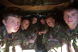 Inside a Warrior vechile..Exercise Guards Warrior with the Scots Guards at their Catterick base..Pic ©2010 Michael Schofield. All Rights Reserved.