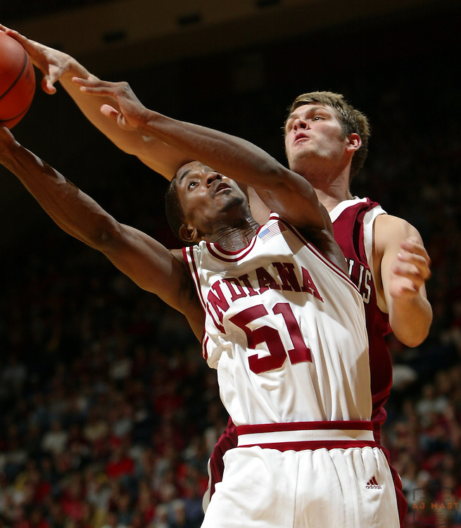10 November 2006: Indiana guard Earl Calloway (51) as the Indiana Hoosiers played the University of Indianapolis Greyhounds in an exhibition game in Bloomington, Ind. Indiana won 83-46.