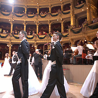 0802020192c Dress rehearsal of the 13th Budapest Opera Ball held at Opera House involving 50 couples of debutantes performing the opening waltz. Budapest, Hungary. Saturday, 02. February 2008. ATTILA VOLGYI