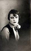studio portrait of an adult woman 1920s