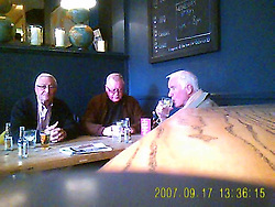Handout grab from video surveillance dated 1/5/2015 of John Collins, Terry Perkins and Brian Reader in the Castle Public House, Pentonville Road. Carl Wood, William Lincoln and Hugh Doyle have been convicted at Woolwich Crown Court of involvement in the Hatton Garden raid, believed to the largest burglary in British legal history in which jewellery and valuables worth an estimated £14 million were stolen.