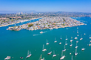 Balboa Island with Newport Center in the Background