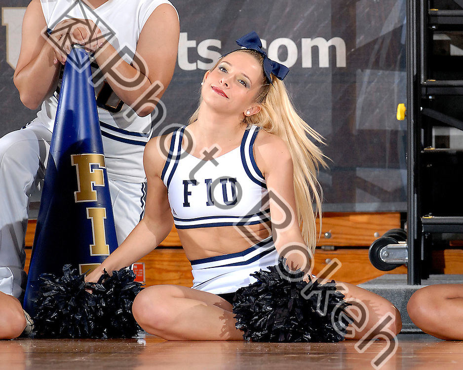 2010 November 18 - Florida International University cheerleaders performing for the fans, Miami, Florida. (Photo by: www.photobokeh.com / Alex J. Hernandez) This image is copyright PhotoBokeh.com and may not be reproduced or retransmitted without express written consent of PhotoBokeh.com. ©2012 PhotoBokeh.com - All Rights Reserved