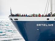 The liveaboard Ortelius in Svalbard, Arctic.