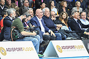 DESCRIZIONE : Final Eight Coppa Italia 2015 Desio Quarti di Finale Olimpia EA7 Emporio Armani Milano - Sidigas Scandone Avellino<br /> GIOCATORE : Adriano Galliani<br /> CATEGORIA : Tifosi Pubblico Spettatori VIP<br /> EVENTO : Final Eight Coppa Italia 2015 Desio<br /> GARA : Olimpia EA7 Emporio Armani Milano - Sidigas Scandone Avellino<br /> DATA : 20/02/2015<br /> SPORT : Pallacanestro <br /> AUTORE : Agenzia Ciamillo-Castoria/L.Canu