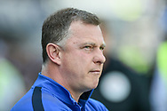 Coventry City Manager, Mark Robins during the EFL Sky Bet League 1 match between Portsmouth and Coventry City at Fratton Park, Portsmouth, England on 22 April 2019.