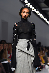 Models on the catwalk during the Teatum Jones Autumn/Winter 2017 London Fashion Week show at the BFC Show Space, 180 Strand, London. Photo credit should read: Doug Peters/ EMPICS Entertainment