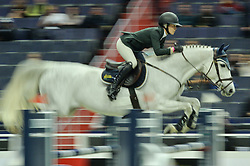 October 25, 2017 - Washington, DC, U.S - Brit AMANDA DERBYSHIRE, riding Lady Maria BH, competes in the International Jumper 1.45m Time First Round held at the Capital One Arena in Washington, DC. (Credit Image: © Amy Sanderson via ZUMA Wire)
