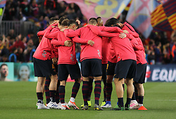 May 1, 2019 - Barcelona, Barcelona, Spain - Players of Barcelona in action before UEFA Champions League football match, between Barcelona and Liverpool, Mayl 01th, in Camp Nou stadium in Barcelona, Spain. (Credit Image: © AFP7 via ZUMA Wire)