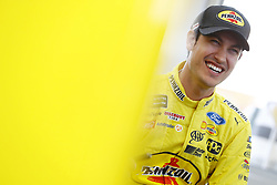 March 2, 2018 - Las Vegas, Nevada, United States of America - March 02, 2018 - Las Vegas, Nevada, USA: Joey Logano (22) hangs out in the garage during practice for the Pennzoil 400 at Las Vegas Motor Speedway in Las Vegas, Nevada. (Credit Image: © Chris Owens Asp Inc/ASP via ZUMA Wire)