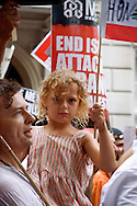 Young girl at the Anti-war march, 22nd July, 2006, London, UK