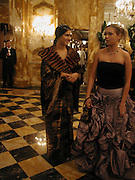 Margherita Missoni and Xenia Gorbechev. Crillon Debutantes Ball 2002. Paris. 7 December 2002. © Copyright Photograph by Dafydd Jones 66 Stockwell Park Rd. London SW9 0DA Tel 020 7733 0108 www.dafjones.com