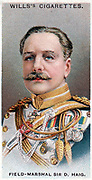 Douglas Haig, 1st Earl Haig of Bermersyde (1861-1928) Scottish-born British soldier. Commander-in-Chief  British forces in France from 1915. Field-Marshal. Chromolithograph card