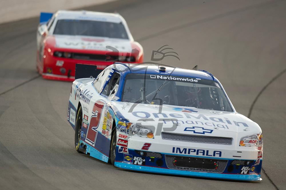 NEWTON, IA - July 04, 2012: Elliot Sadler (2) during the U.S. Cellular 250 race at Iowa Speedway in Newton, IA.