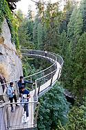 Capilano Sky Walk at the Capilano Suspension Bridge Park in Vancouver, British Columbia, Canada