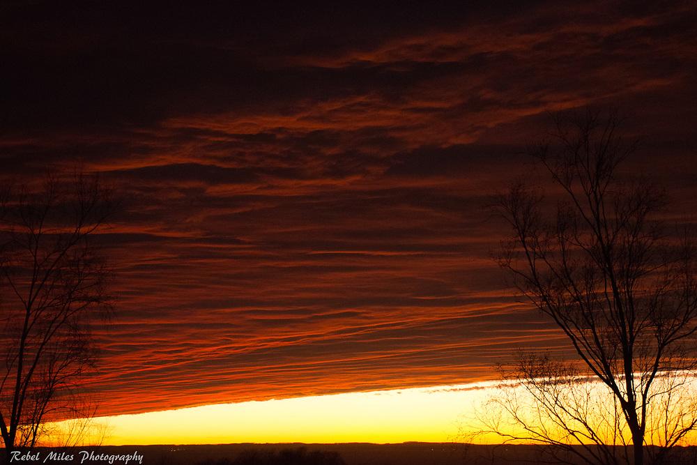 Stunning Fall Sunset Over Lake Michigan