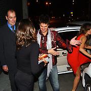 Presentatie telefoon Samsung, limosine Martijn Krabbe en Amanda Beekman