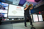 LAS VEGAS, NV - JULY 6:  UFC announcer Bruce Buffer performs during the UFC Lip Sync Challenge in Lagasse's Stadium at The Palazzo Las Vegas on July 6, 2016 in Las Vegas, Nevada. (Photo by Cooper Neill/Zuffa LLC/Zuffa LLC via Getty Images) *** Local Caption *** Bruce Buffer