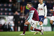 Burnley defender Matthew Lowton (2) during the Premier League match between Burnley and Tottenham Hotspur at Turf Moor, Burnley, England on 26 October 2020.