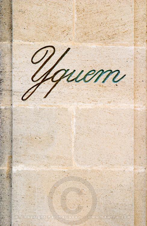 gate post chateau d'yquem sauternes bordeaux france
