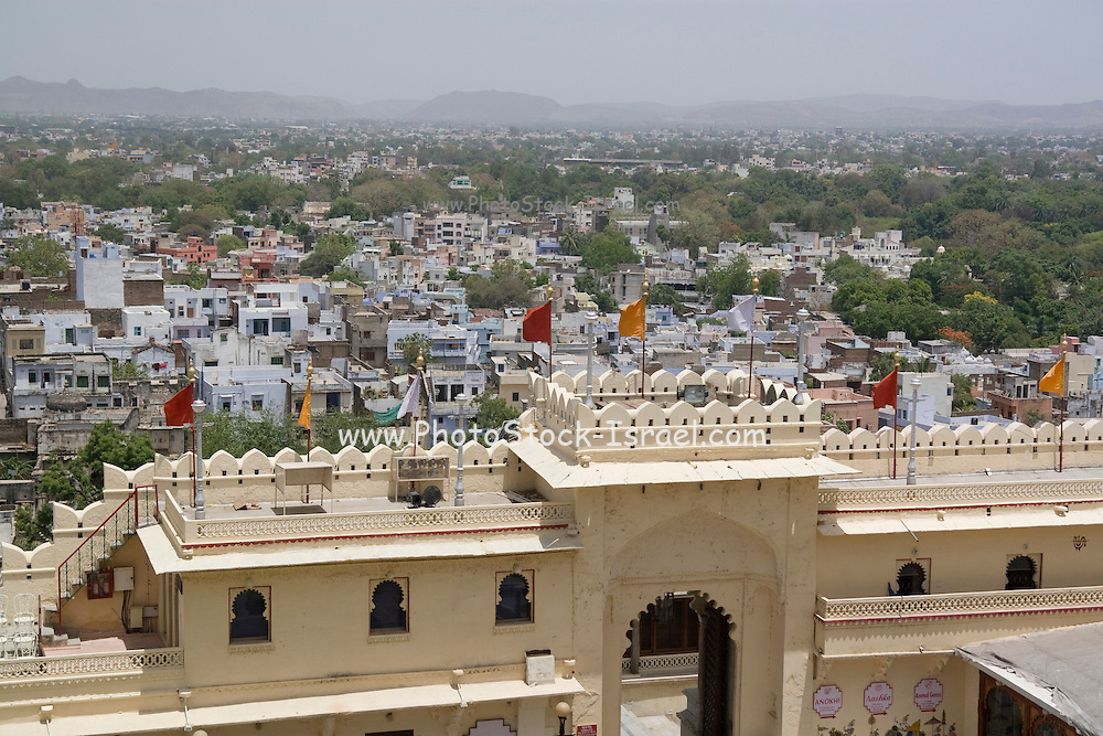 India, Rajasthan, Udaipur The city palace complex