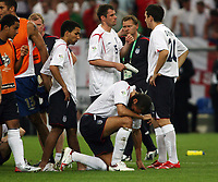 Photo: Chris Ratcliffe.<br /> England v Portugal. Quarter Finals, FIFA World Cup 2006. 01/07/2006.<br /> Rio Ferdinand and gutted England.