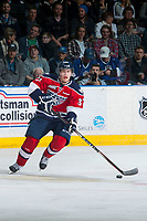 KELOWNA, CANADA - MARCH 28: Parker Wotherspoon #37 of Tri-City Americans skates with the puck against the Kelowna Rockets on March 28, 2015 at Prospera Place in Kelowna, British Columbia, Canada.  (Photo by Marissa Baecker/Getty Images)  *** Local Caption *** Parker Wotherspoon;