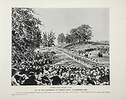 """Day of Entombment of general Grant at riverside park from The American Civil War book and Grant album : """"art immortelles"""" : a portfolio of half-tone reproductions from rare and costly photographs designed to perpetuate the memory of General Ulysses S. Grant, depicting scenes and incidents in connection with the Civil War Published  in Boston and New York by W. H. Allen in 1894"""