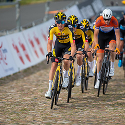 WIJSTER (NED) June 19: <br /> CYCLING <br /> Dutch Nationals Road U23 up and around the Col du VAM<br /> Hidde Van Veenendaal (Netherlands / Team Jumbo Visma Academy) takes the lead