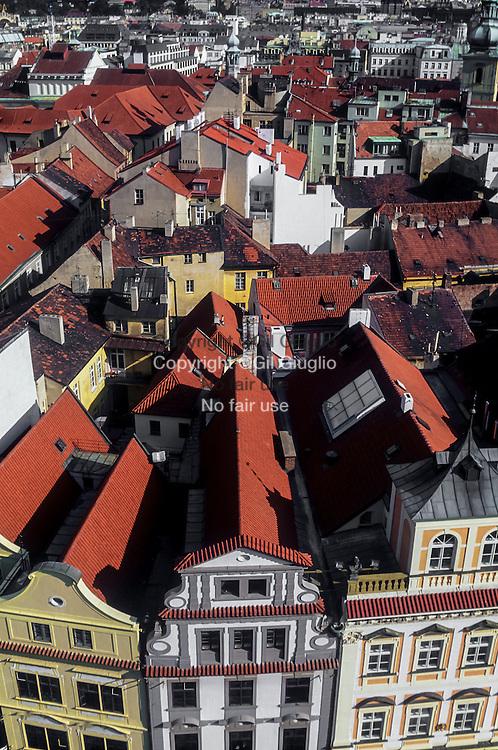 Czech Republic, Prague, Stare Mesto, Staromestske place from Town Hall tower