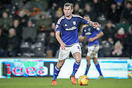 Joe Ralls (Cardiff City) during the Sky Bet Championship match between Hull City and Cardiff City at the KC Stadium, Kingston upon Hull, England on 13 January 2016. Photo by Mark P Doherty.