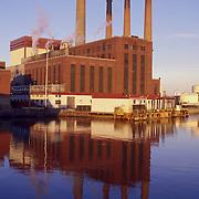 An electrical power plant, Boston, MA