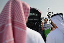 February 24, 2019 - Abu Dhabi, United Arab Emirates - Mark Cavendish of Great Britain and Team Dimension Data, seen ahead of the Team Time Trial, the opening ADNOC stage of the inaugural UAE Tour 2019..On Sunday, February 24, 2019, Abu Dhabi, United Arab Emirates. (Credit Image: © Artur Widak/NurPhoto via ZUMA Press)