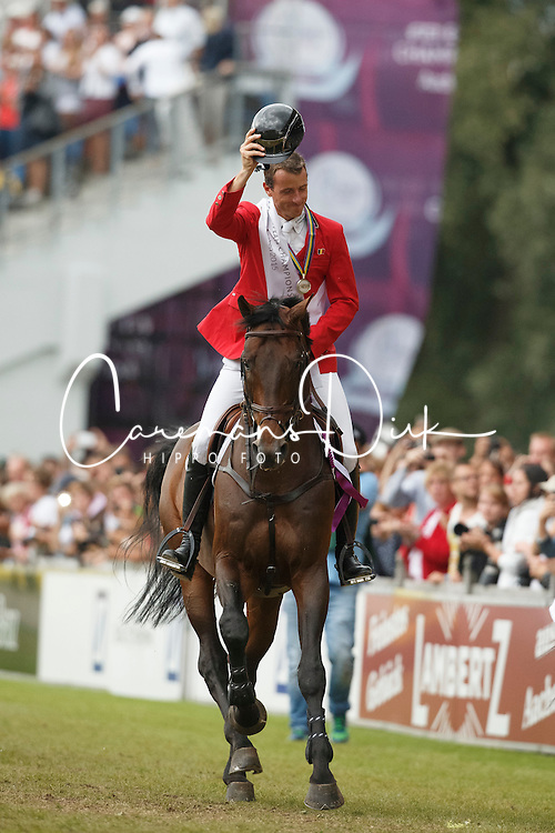 Wathelet Gregory, (BEL), Conrad de Hus<br /> Gold medal winner<br /> Individual Final Competition<br /> FEI European Championships - Aachen 2015<br /> © Hippo Foto - Dirk Caremans<br /> 23/08/15