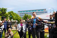 DEU, Deutschland, Germany, Berlin, 23.05.2019: CDU-Generalsekretär Paul Ziemiak bei einem Pressestatement auf dem Wittenbergplatz anlässlich der bevorstehenden Europawahl.