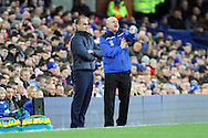 Everton Manager Roberto Martinez (l) and Dagenham & Redbridge Manager John Still  ® look on from the touchline. The Emirates FA cup, 3rd round match, Everton v Dagenham & Redbridge at Goodison Park in Liverpool on Saturday 9th January 2016.<br /> pic by Chris Stading, Andrew Orchard sports photography.