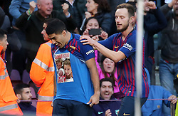 October 28, 2018 - Barcelona, Catalonia, Spain - Luis Suarez goal celebration during the match between FC Barcelona and Real Madrid CF, corresponding to the week 10 of the Liga Santander, played at the Camp Nou, on 28th October 2018, in Barcelona, Spain. (Credit Image: © Joan Valls/NurPhoto via ZUMA Press)
