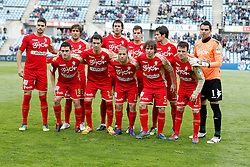 07.04.2012, Stadion Coliseum Alfonso Perez, Getafe, ESP, Primera Division, FC Getafe vs Sporting Gijon, 32. Spieltag, im Bild Sporting de Gijon's team photo // during the football match of spanish 'primera divison' league, 32th round, between FC Getafe and Sporting Gijon at Coliseum Alfonso Perez stadium, Getafe, Spain on 2012/04/07. EXPA Pictures © 2012, PhotoCredit: EXPA/ Alterphotos/ Alvaro Hernandez..***** ATTENTION - OUT OF ESP and SUI *****