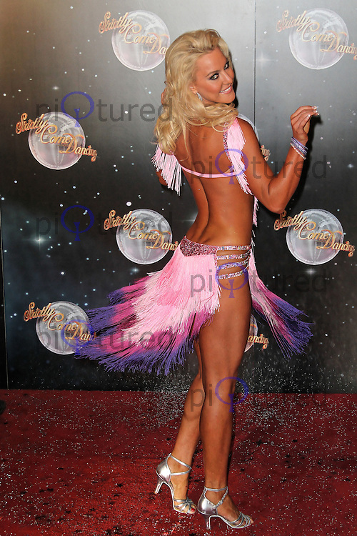 LONDON - SEPTEMBER 11: Natalie Lowe attended the Strictly Come Dancing Launch at the BBC Television Centre, London, UK. September 11, 2012. (Photo by Richard Goldschmidt)