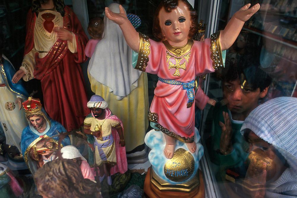 The Divino Nino (The Divine Child) momentos, religious barrio of 20 de Julio (20 of July), Bogota