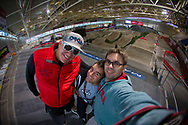 Max Cluer, Donny Robinson and Craig Dutton at the 2014 UCI BMX Supercross World Cup in Manchester.