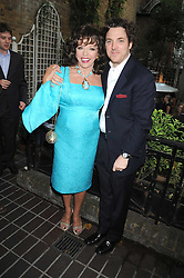 JOAN COLLINS and her son SACHA NEWLEY at a private view of work by Sacha Newley entitled 'Blessed Curse' in association with the Catto Gallery held at the Arts Club, Dover Street, London W1 on 2nd July 2008.<br /><br />NON EXCLUSIVE - WORLD RIGHTS