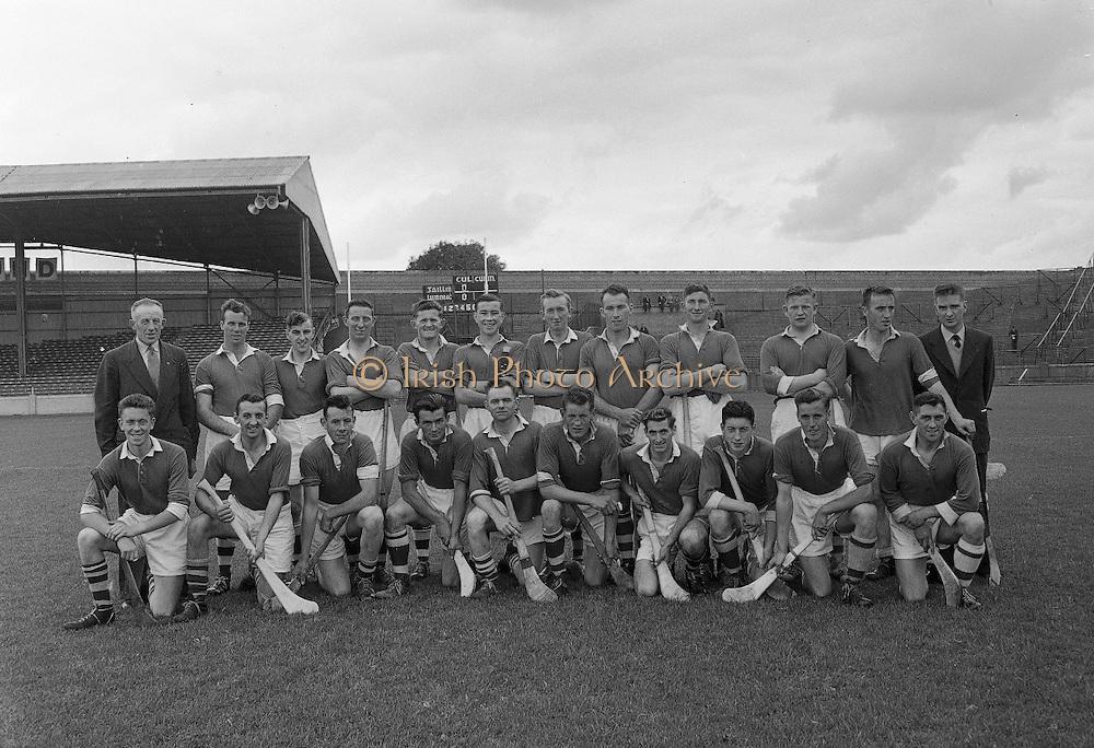Neg No: A484/03-07...1957AIJHCF2.08.09.1957, 09.08.1957, 8th September 1957...All Ireland Junior Hurling Championship - Home Final..Limerick.07-15.Galway.05-08...Limerick. ..G. Casey (goal), T. O Donnell (Captain), P. OConnor, T. ODwyer, D. McCarthy, J. Dooley, J. Nealon, L. Hogan, M. Savage, M. OShea, J. Shanahan, M. Sheehan, P. Ryan, J. Enright, J. Barry.Sub.: Dick McGrath.T. O Donnell (Captain).G. Casey (goal)....