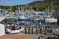 Day three of the Silvers Marine Scottish Series 2016, the largest sailing event in Scotland organised by the  Clyde Cruising Club<br /> Racing on Loch Fyne from 27th-30th May 2016<br /> <br /> Pipe Band, Harbour<br /> <br /> Credit : Marc Turner / CCC<br /> For further information contact<br /> Iain Hurrel<br /> Mobile : 07766 116451<br /> Email : info@marine.blast.com<br /> <br /> For a full list of Silvers Marine Scottish Series sponsors visit http://www.clyde.org/scottish-series/sponsors/